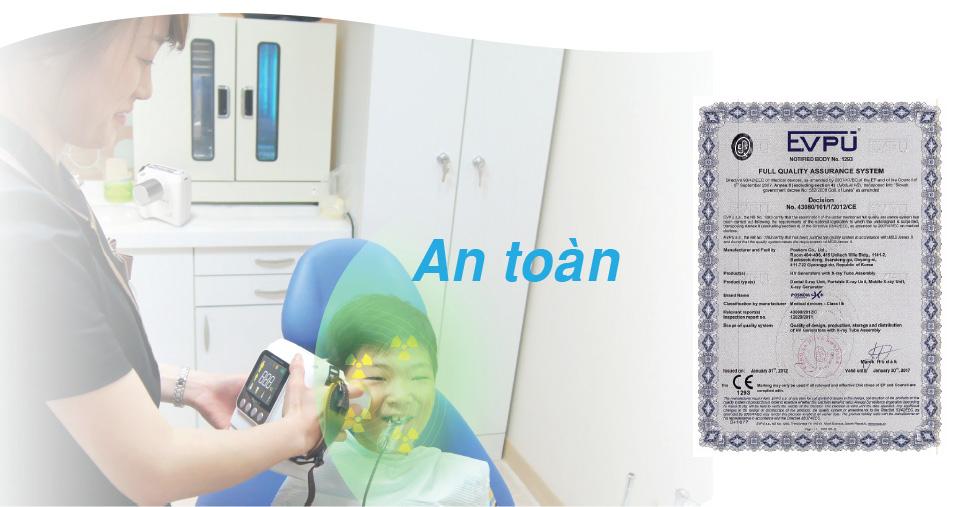 Posdion Rextar X an toàn bức xạ
